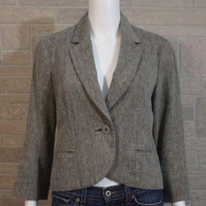 Tabitha Tweed 3/4 sleeve 1 Button Blazer Jacket 6